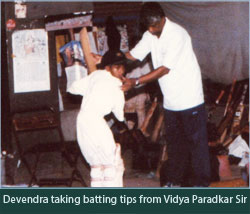 Devendra Taking Batting Tips